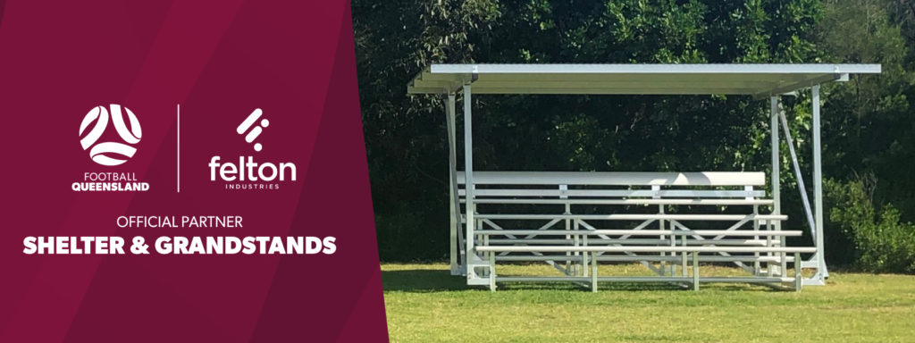 Football Queensland (FQ) has launched its Shelter & Grandstands Facility Guide, together with their new partner Felton Industries.
