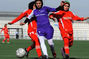 Afghan female footballers